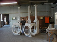 Cast aluminum clock posts and head